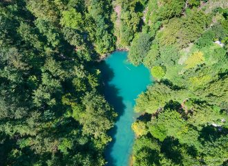 kupa, river, rapids, croatia, source, mountain, croatia, slovenia, aerial,