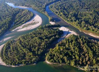 #drava #river #meander #aerial #pebble #forest #floodforest #drava #croatia #hungary