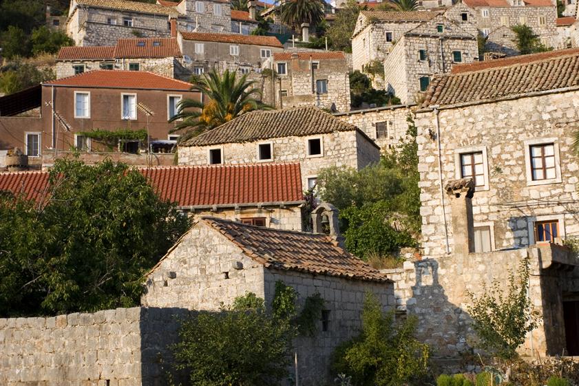 adriatic, croatia, coast, island, lastovo, town, village