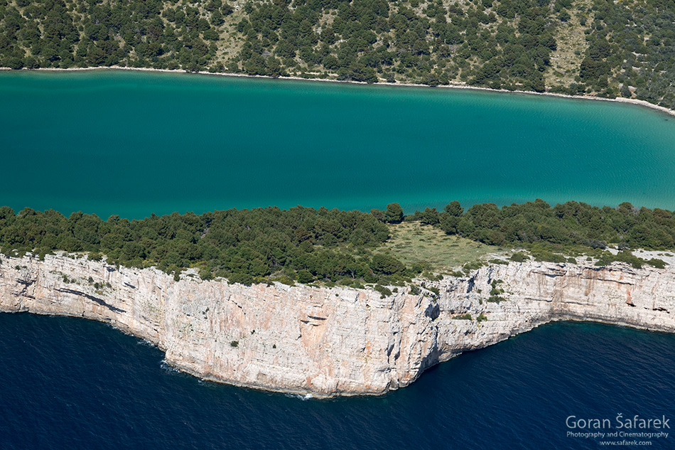 telašćica, telascica, coast, island, bay, cliff, adriatic, croatia, salt lake, Mir