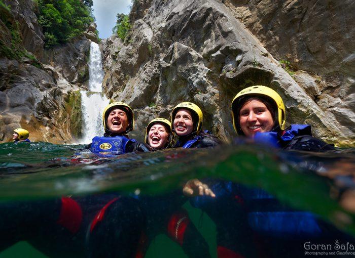 canyoning, cetina, canyon, river, adventure