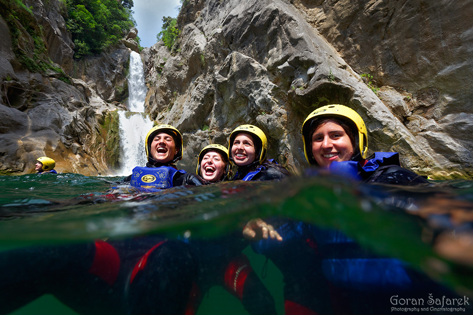 canyoning, cetina, canyon, river, adventure