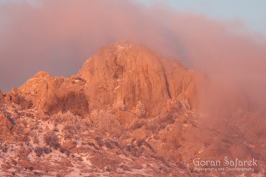 croatia, velebit, lika, mountain, national park, nature park, winter, sunrise, fog