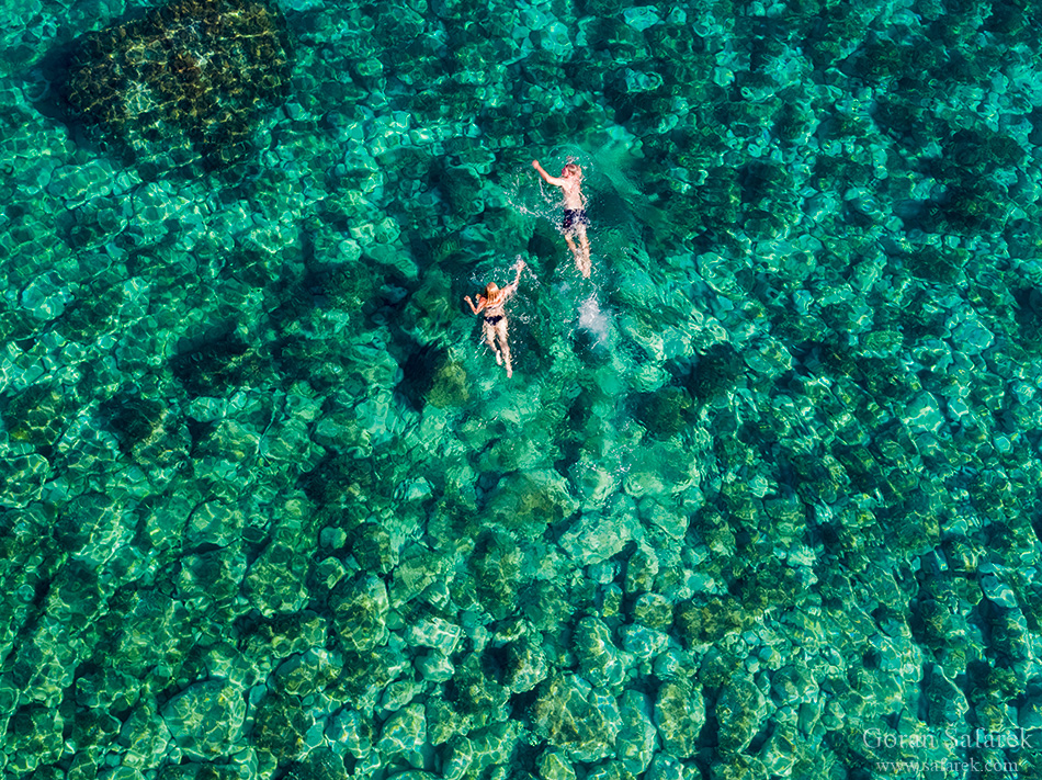 adriatic sea, coast, sea, Mediterranean, coastline, limestone, karst, Adriatic, seashore, sea, Hrvatska, Croatia, Kroatien, holidays, vacation, travel, tourism, Europe, island, Palagruža, swimming, sea, aerial, landscape, scenery, panorama, beach, swimming, sunbath, summer, leisure, swimming suit, pebble, rocky