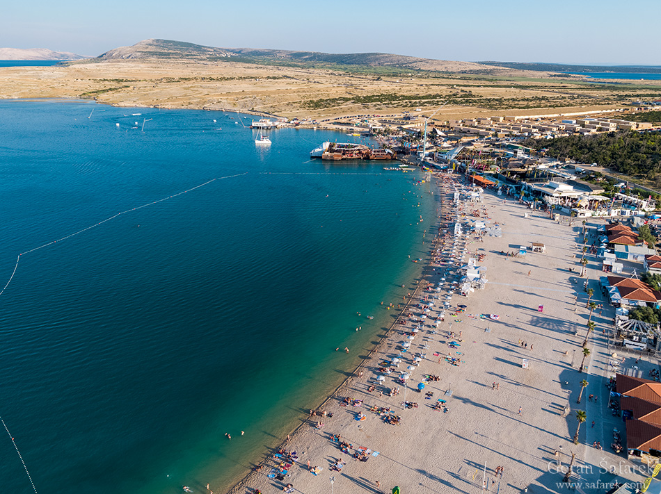Zrće, zrce, pag, novalja, beach, party, adriatic sea, coast, sea, Mediterranean, coastline, limestone, karst, Adriatic, seashore, sea, Hrvatska, Croatia, Kroatien, holidays, vacation, travel, tourism, Europe, island, sport, adventure, explore, active, beach, swimming, sunbath, summer, leisure, swimming suit, pebble, club, clubbing, techno