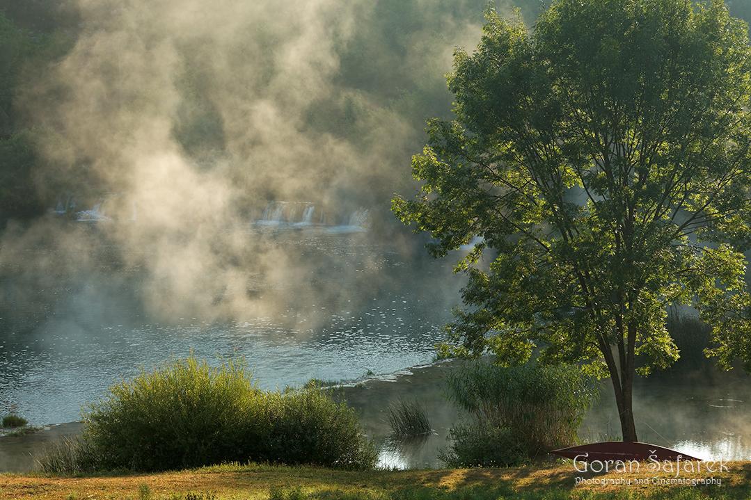 mrežnica, mreznica, river, karlovac, canyon, waterfalls, croatia, sunrise, mist