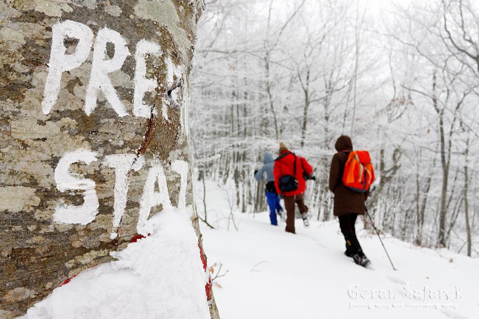 croatia, mountains, hiking, alpinism, summit, snow, winter