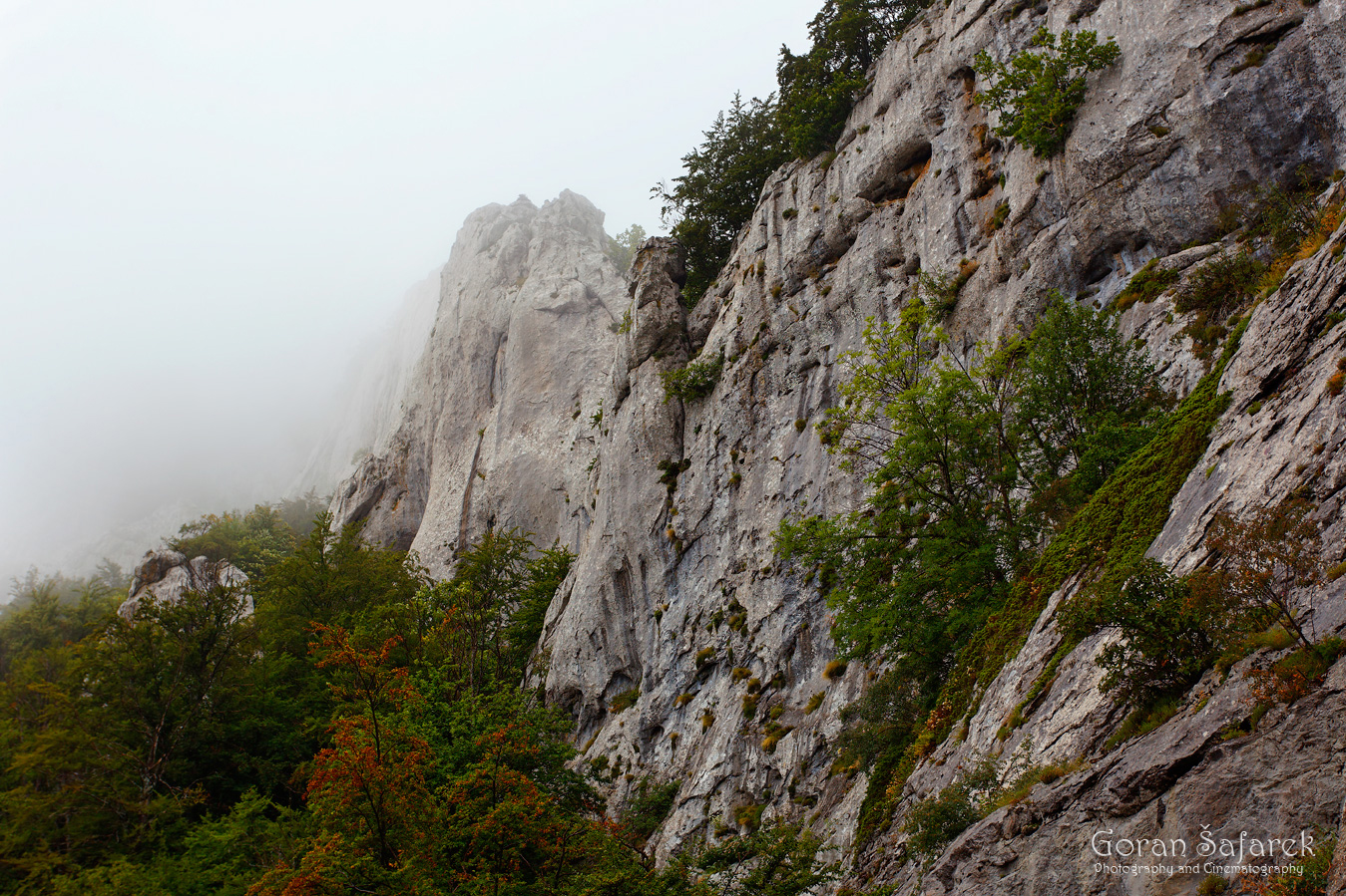 croatia, mountains, hiking, alpinism, summit, fog