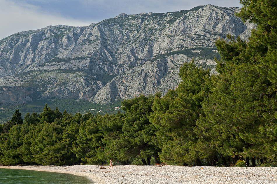 croatia, mountains, hiking, alpinism, summit, beach, biokovo, podgora, tučepi