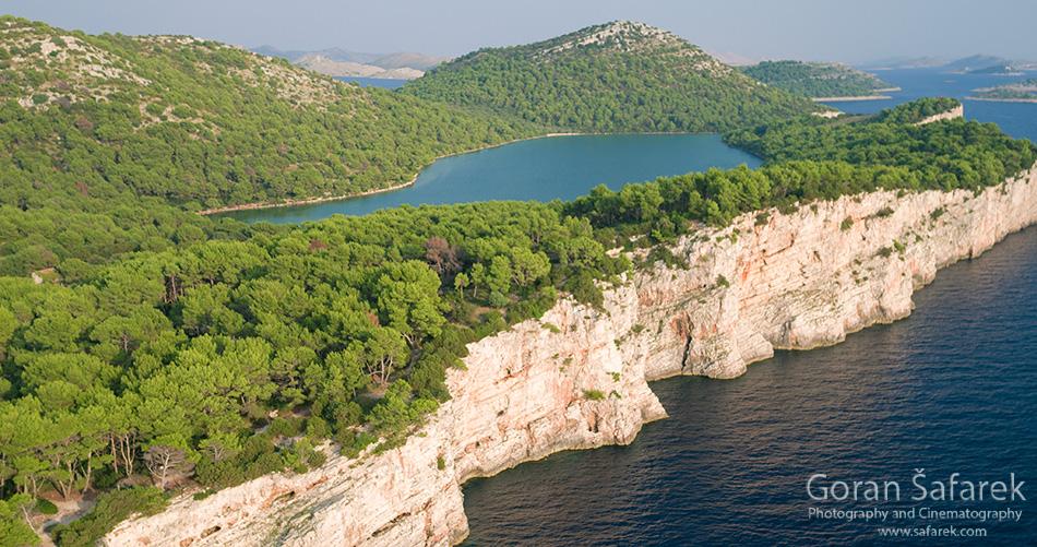 telašćica, telascica, dugi otok, croatia, adriatic, sea, cliffs, lake, mir