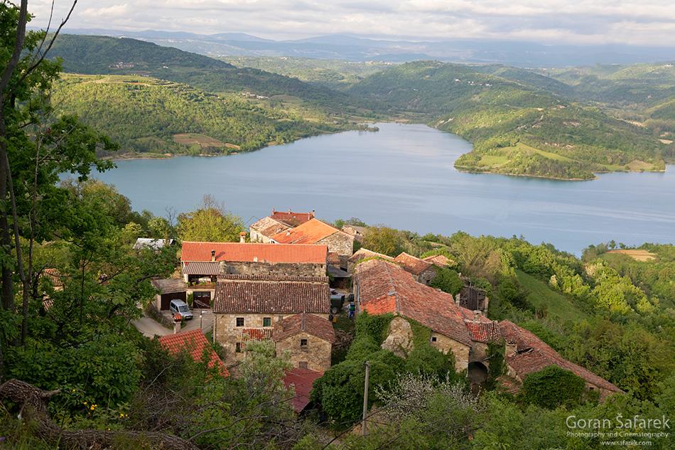 istra, interior, village, lake, croatia