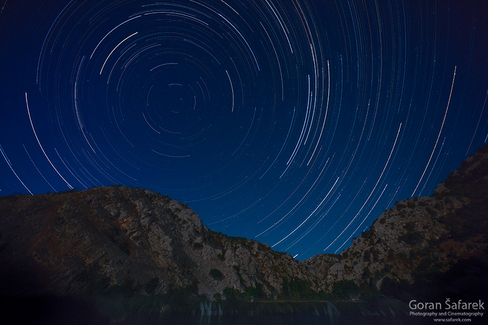 krupa, river, canyon, dalmatia, water, oasis,waterfall, startrails, night