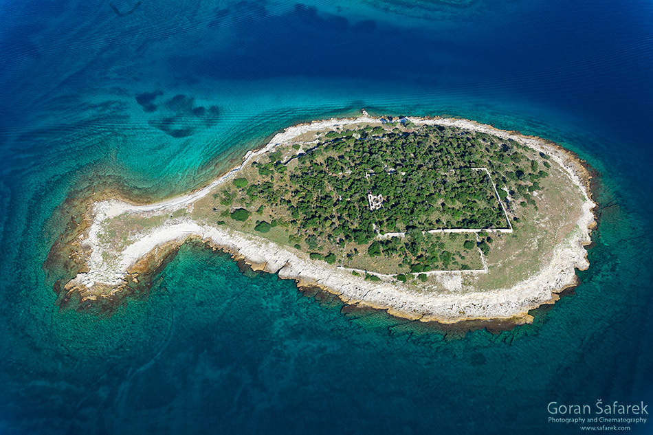 croatia, sea, brijuni, istra, croatia, national park, coast, adriatic, aerial, island