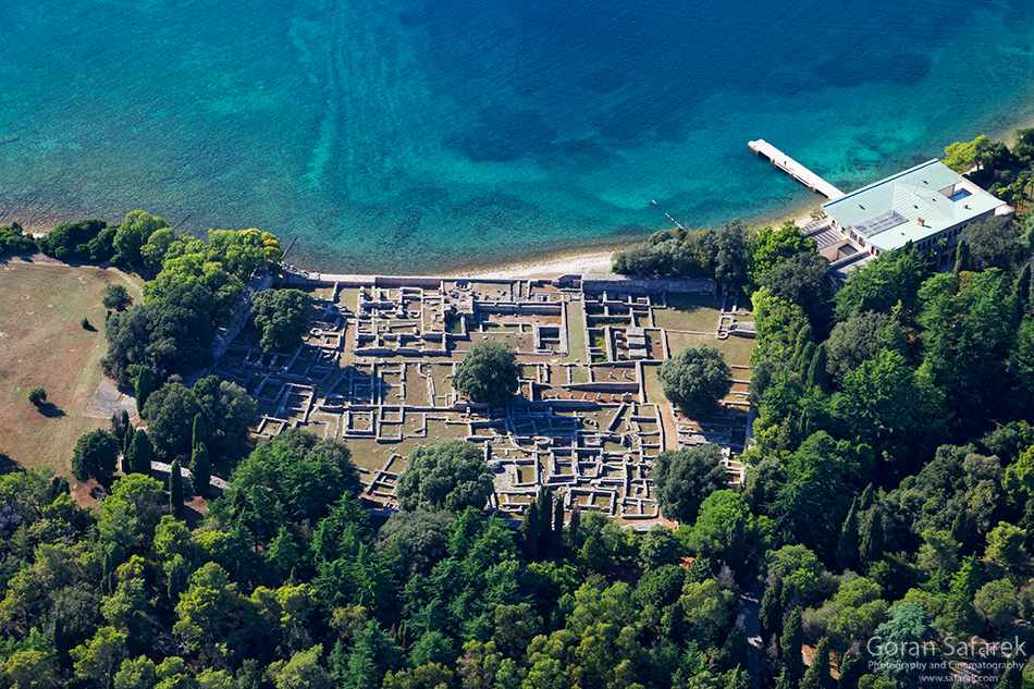 croatia, sea, brijuni, istra, croatia, national park, coast, adriatic, aerial, castrum
