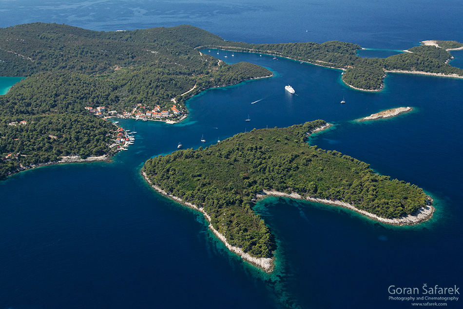 Pomena, mljet, adriatic, sea, island, croatia, national park, coast,