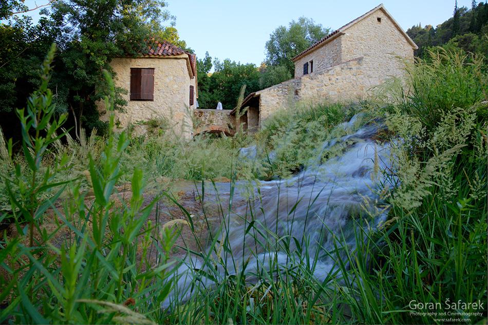 krka, national park, river,dalmatia, water,guide,waterfall,, Skradinski buk, watermill
