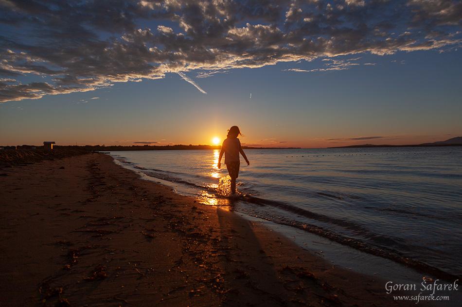 nin, croatia, lagoon, royal, dalmatia, adriatic, coast,sea,sandy, beach, ždrijac, sunset