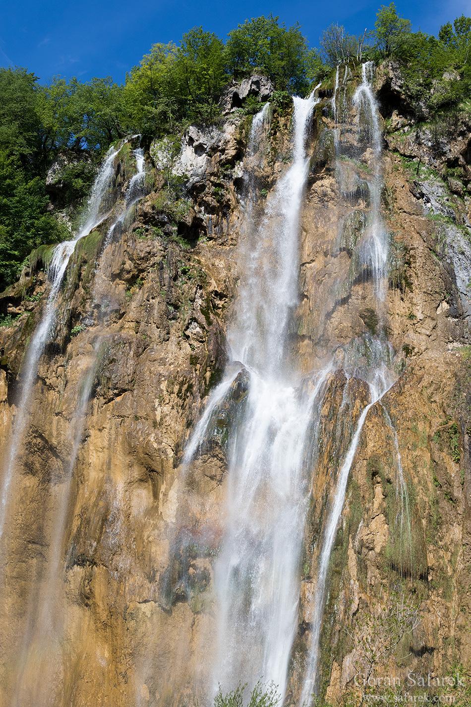 Great Plitvice Waterfall, Plitvice lakes, plitvička jezera, national park, croatia,