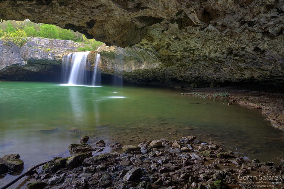 croatia, istria, pazin, pazinčica, waterfall