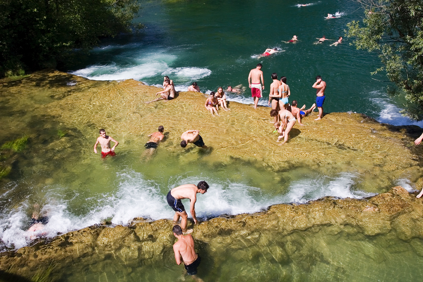Mrežnica, waterfall, excursion, swimming, river