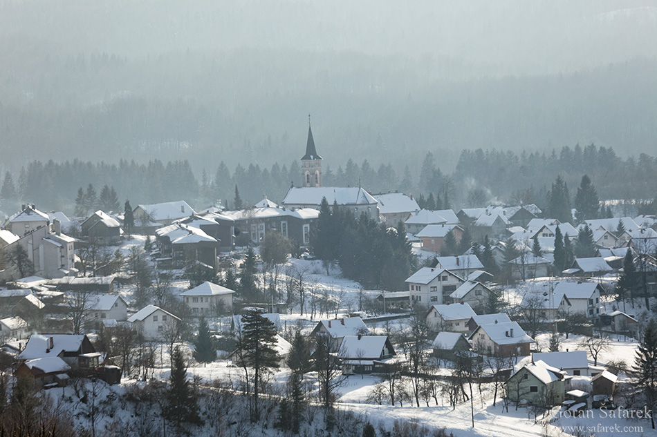 croatia, winter, snow, mountains, gorski kotar, village