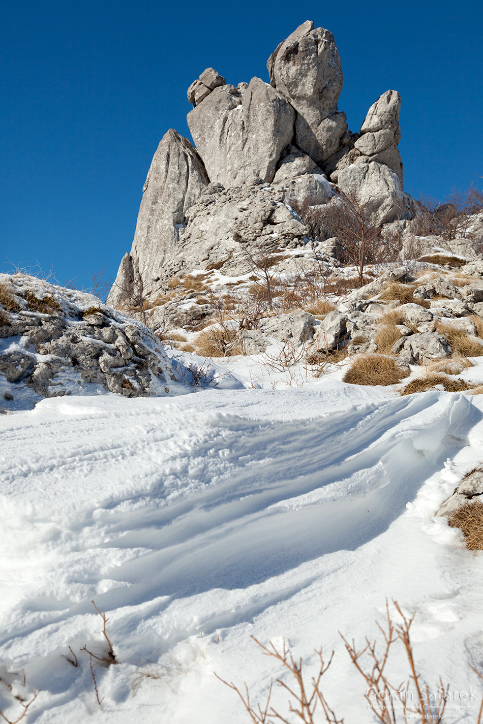 croatia, winter, snow, mountains, velebit