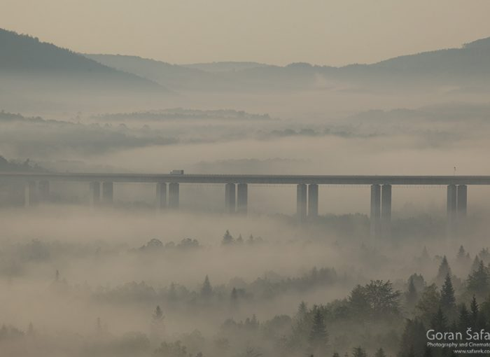 croatia,highway,mist,morning,gorski kotar,sunrise,