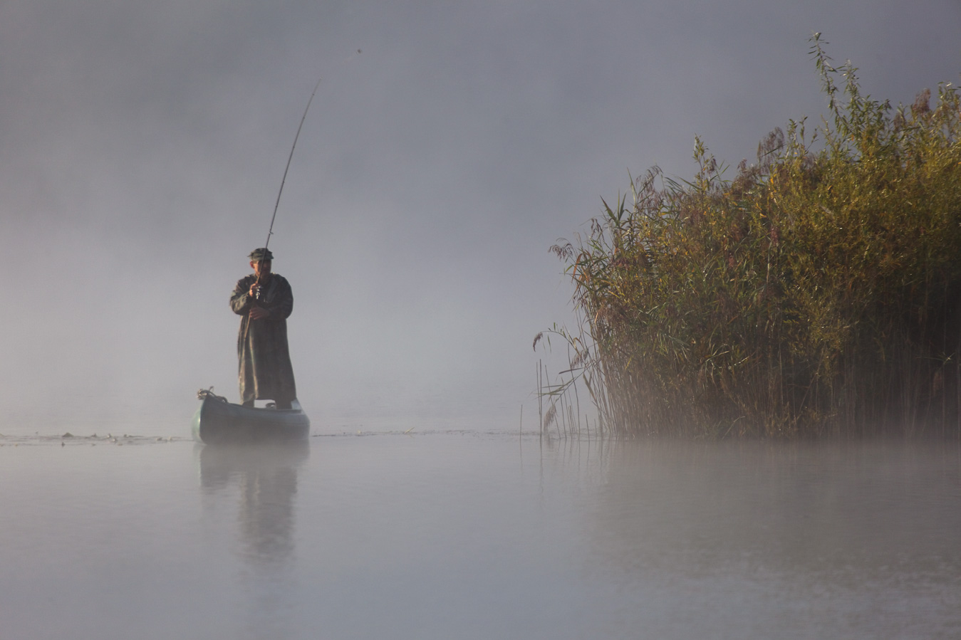 šoderica, croatia,lake, podravina, continental, plain, water, resort nature, wetland, river, fishing, boat, fog