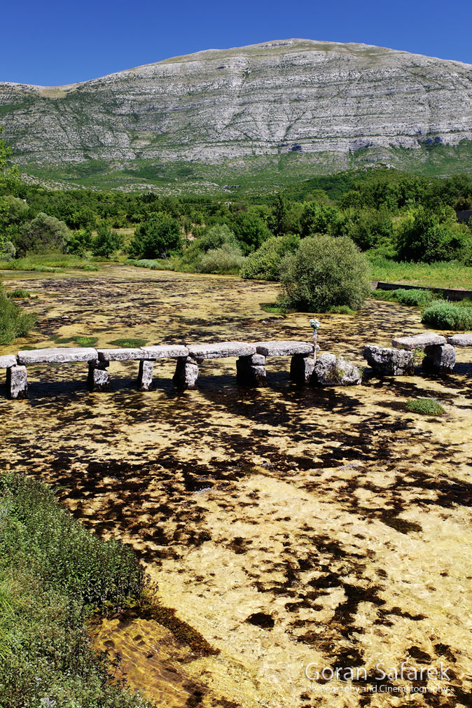 The Cetina River, dalmatia, rivers, water, source, valley, bridge