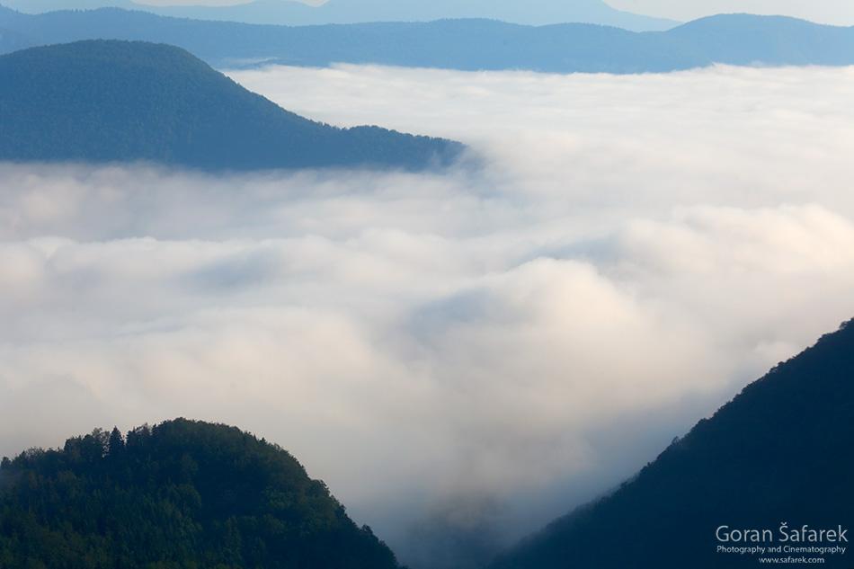 croatia, regions, gorskikotar, mountains, fog