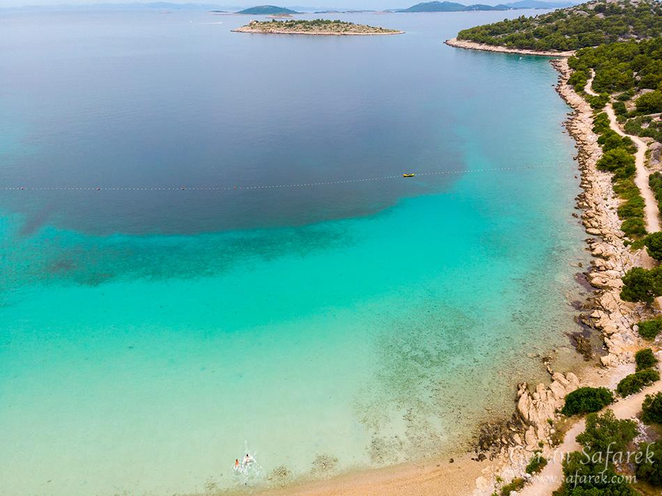 Murter town, Croatia, Adriatic, Podvrške beach