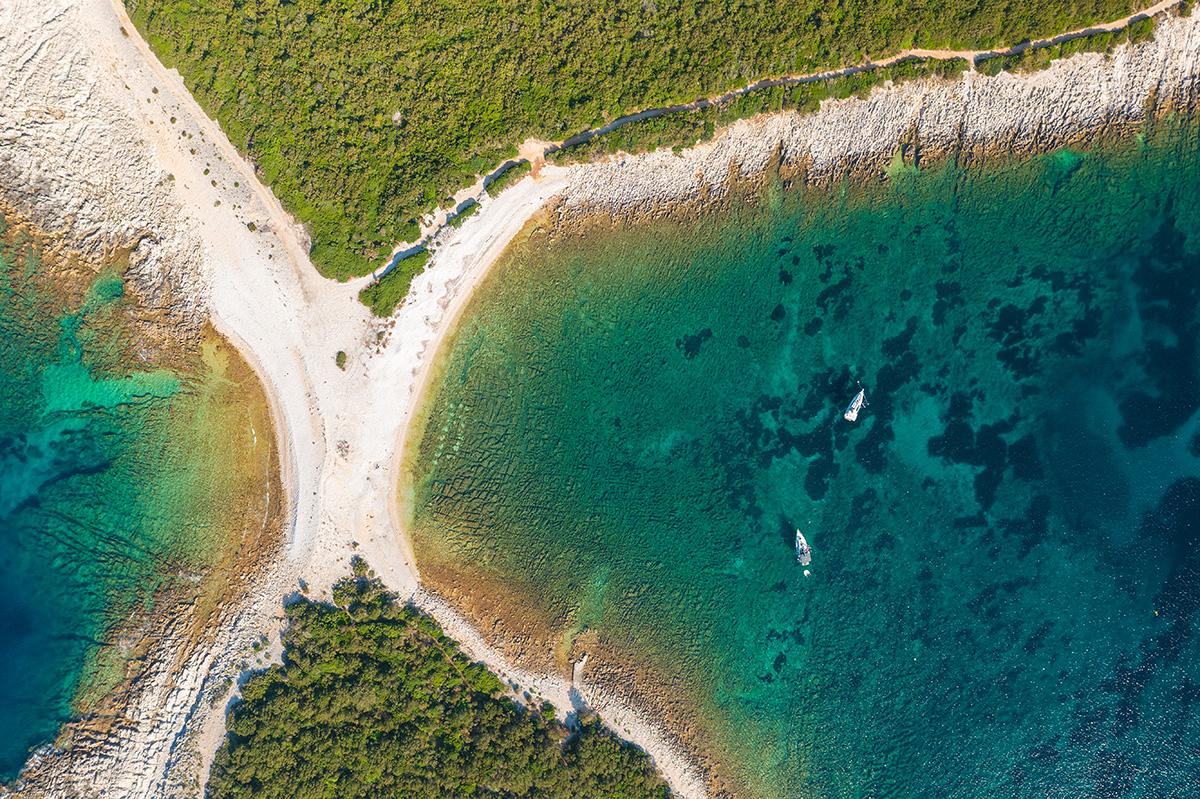dugi otok, sakarun, adriatic sea, croatia, beach, sailing, boat