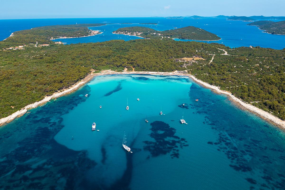 dugi otok, sakarun, adriatic sea, croatia, sand beach, sailing, boat