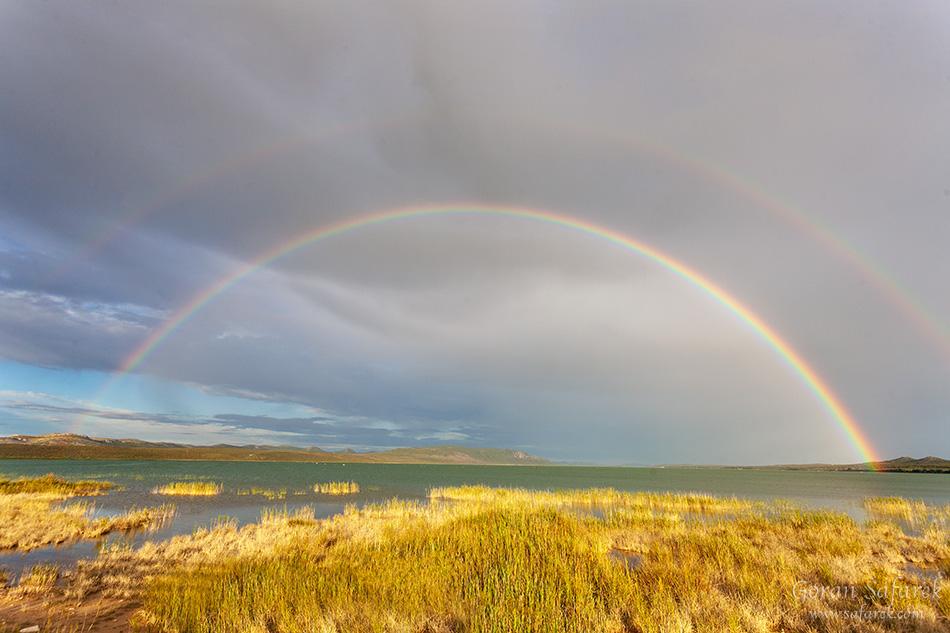 croatia, vrana lake, dalmatia,nature park, rainbow
