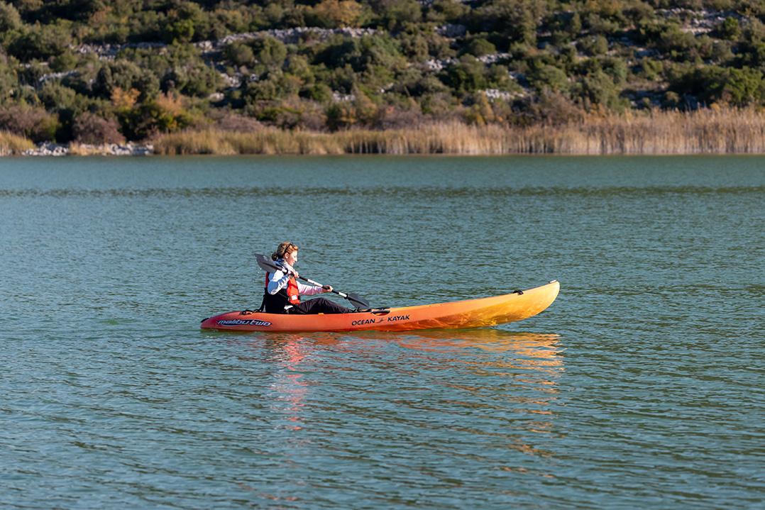 croatia, vrana lake, dalmatia,nature park, kayak