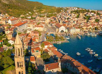 hvar town, hvar island, croatia, adriatic coast, adriatic sea